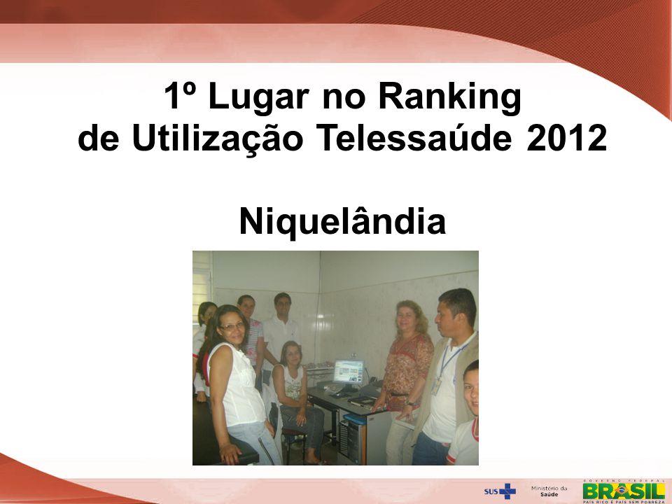 1º Lugar no Ranking de Utilização Telessaúde 2012