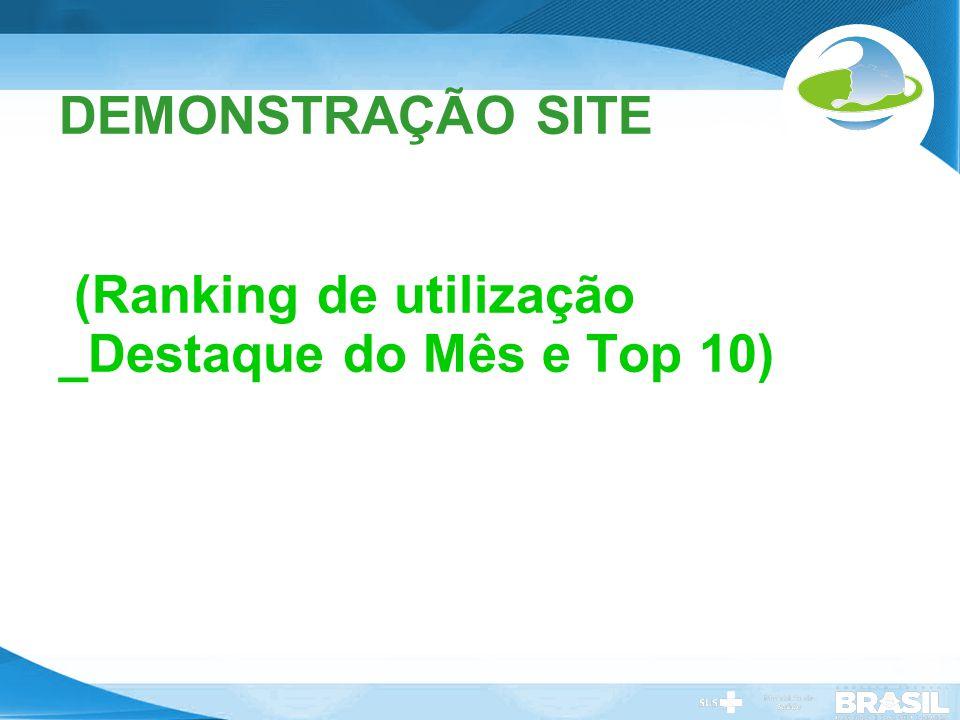 DEMONSTRAÇÃO SITE (Ranking de utilização _Destaque do Mês e Top 10)