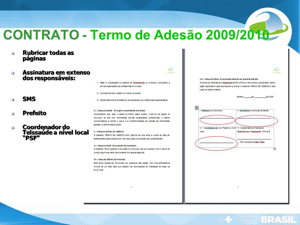 CONTRATO - Termo de Adesão 2009/2010