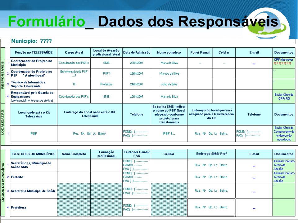 Formulário_ Dados dos Responsáveis
