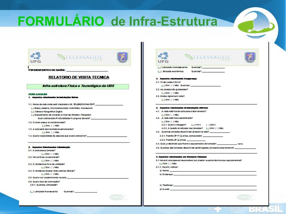 FORMULÁRIO de Infra-Estrutura