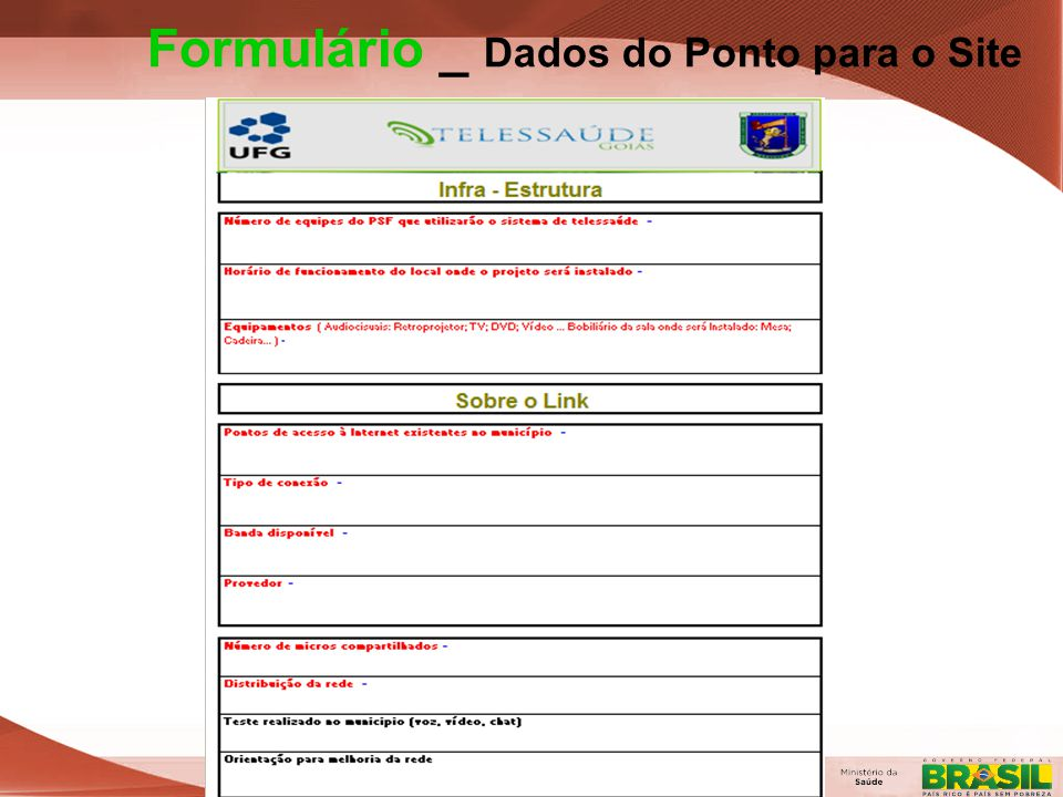 Formulário _ Dados do Ponto para o Site