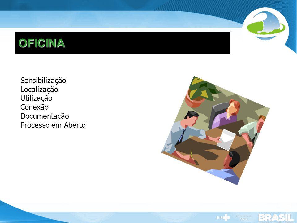 OFICINA Sensibilização Localização Utilização Conexão Documentação