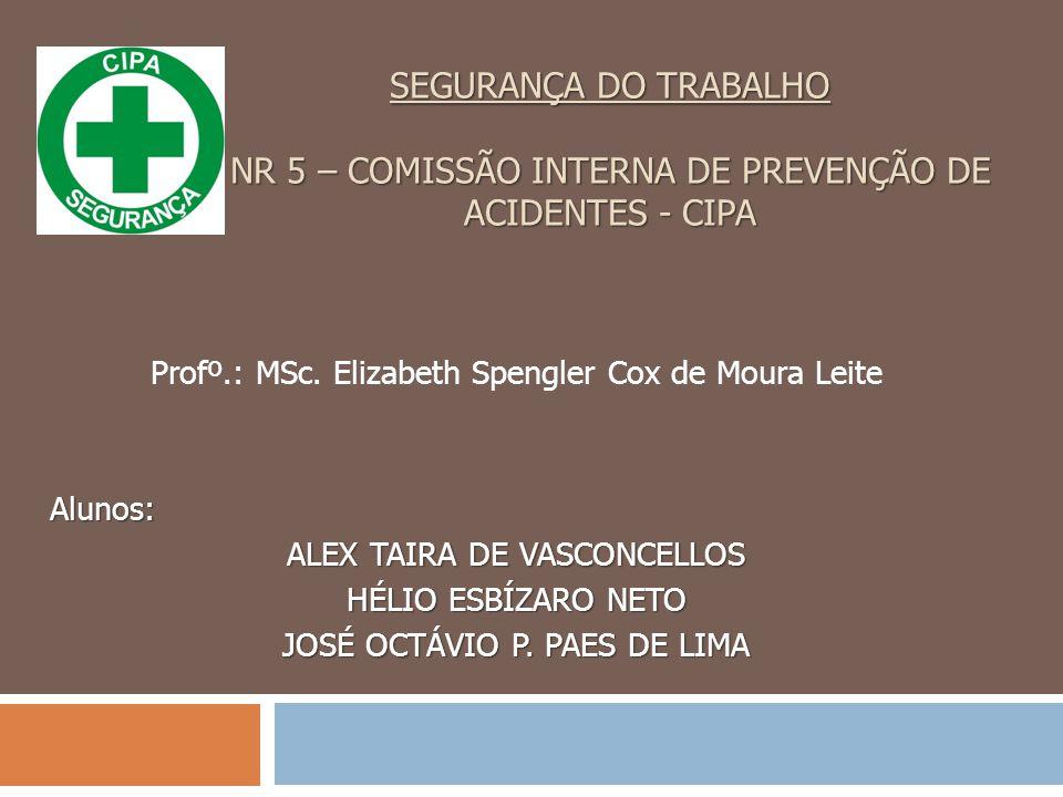 SEGURANÇA DO TRABALHO NR 5 – COMISSÃO INTERNA DE PREVENÇÃO DE ACIDENTES - CIPA