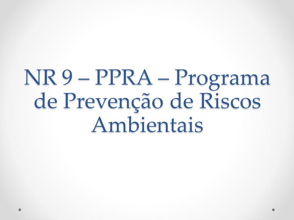 NR 9 – PPRA – Programa de Prevenção de Riscos Ambientais