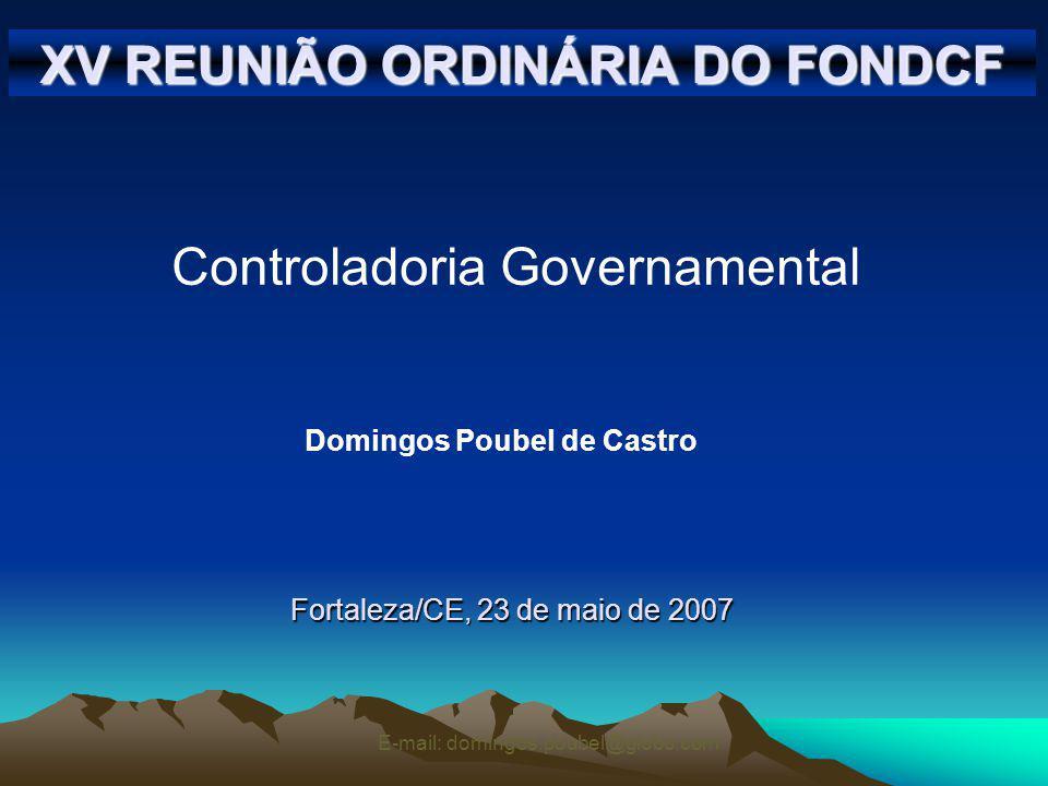 XV REUNIÃO ORDINÁRIA DO FONDCF