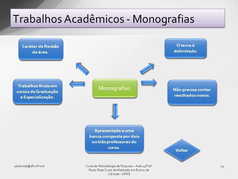 Trabalhos Acadêmicos - Monografias