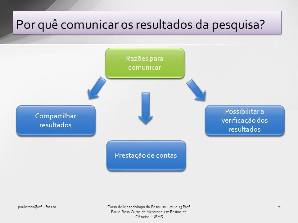 Por quê comunicar os resultados da pesquisa