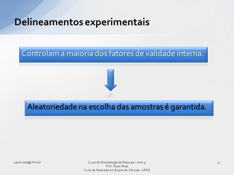 Delineamentos experimentais