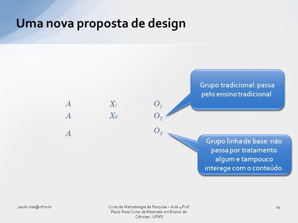 Uma nova proposta de design