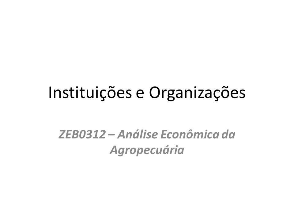 Instituições e Organizações