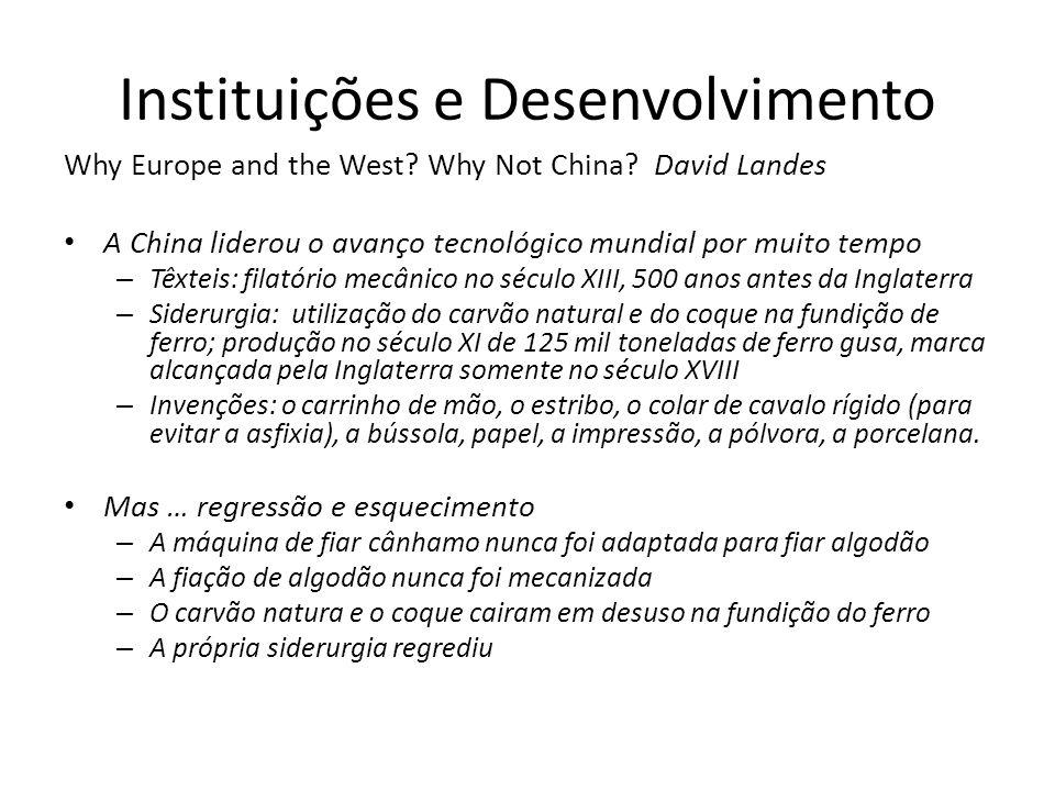 Instituições e Desenvolvimento