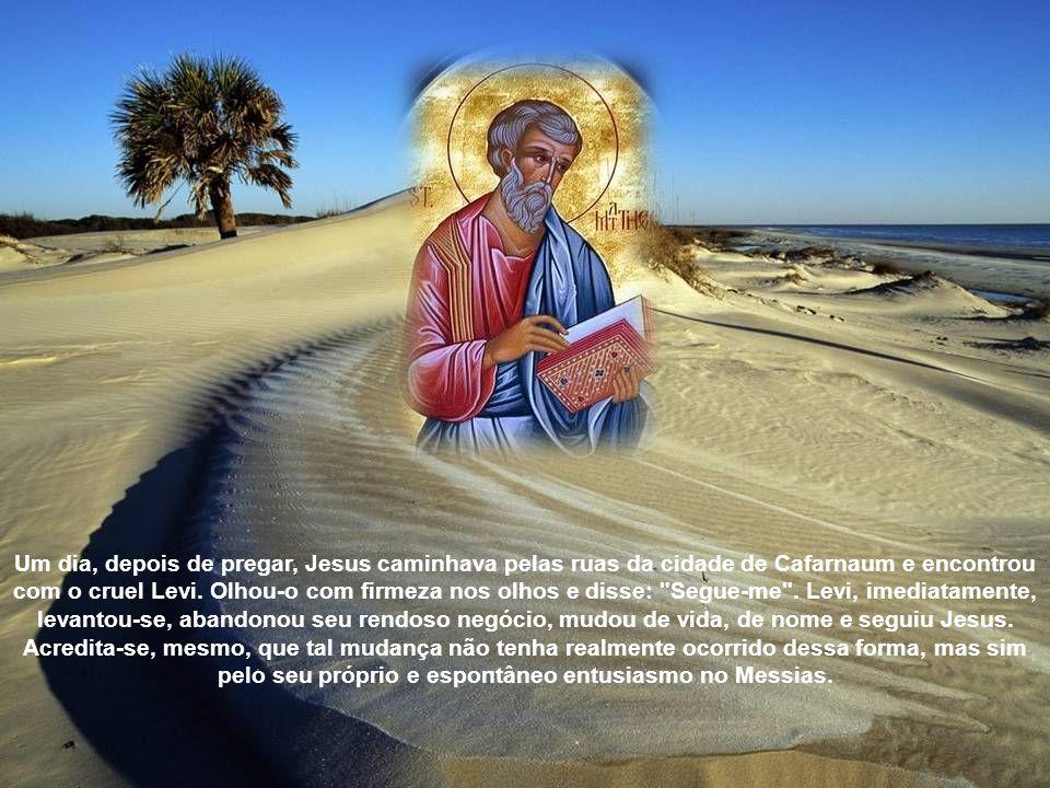 Um dia, depois de pregar, Jesus caminhava pelas ruas da cidade de Cafarnaum e encontrou com o cruel Levi.