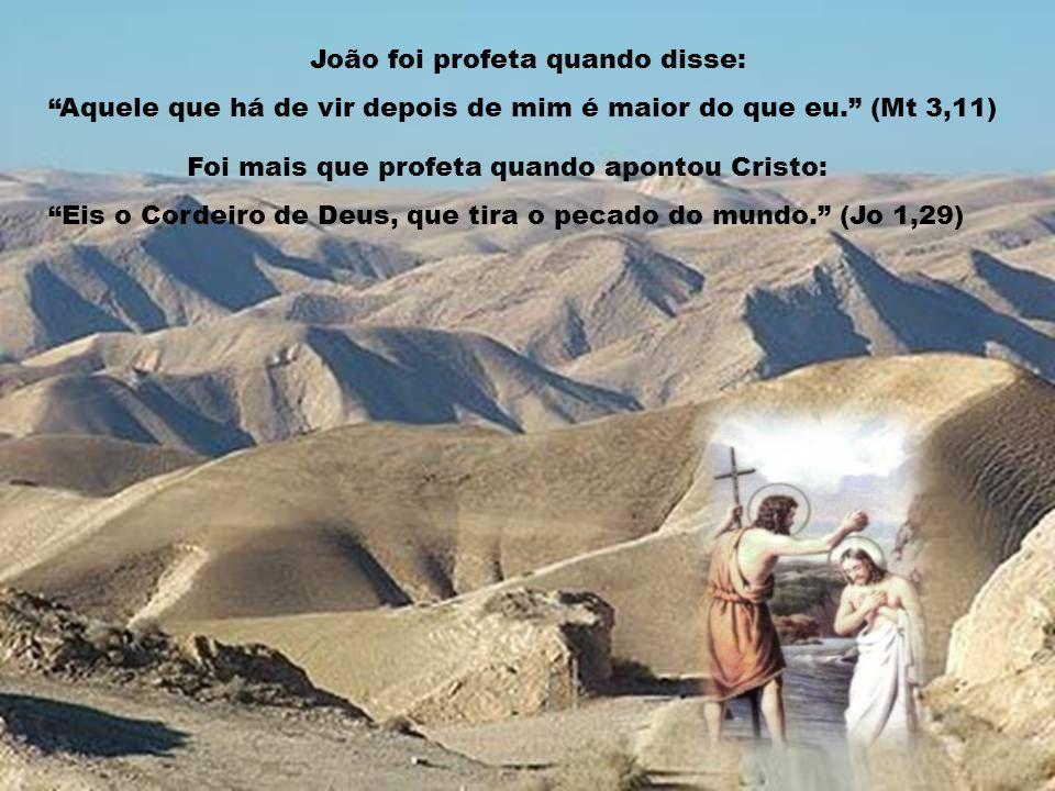 João foi profeta quando disse:
