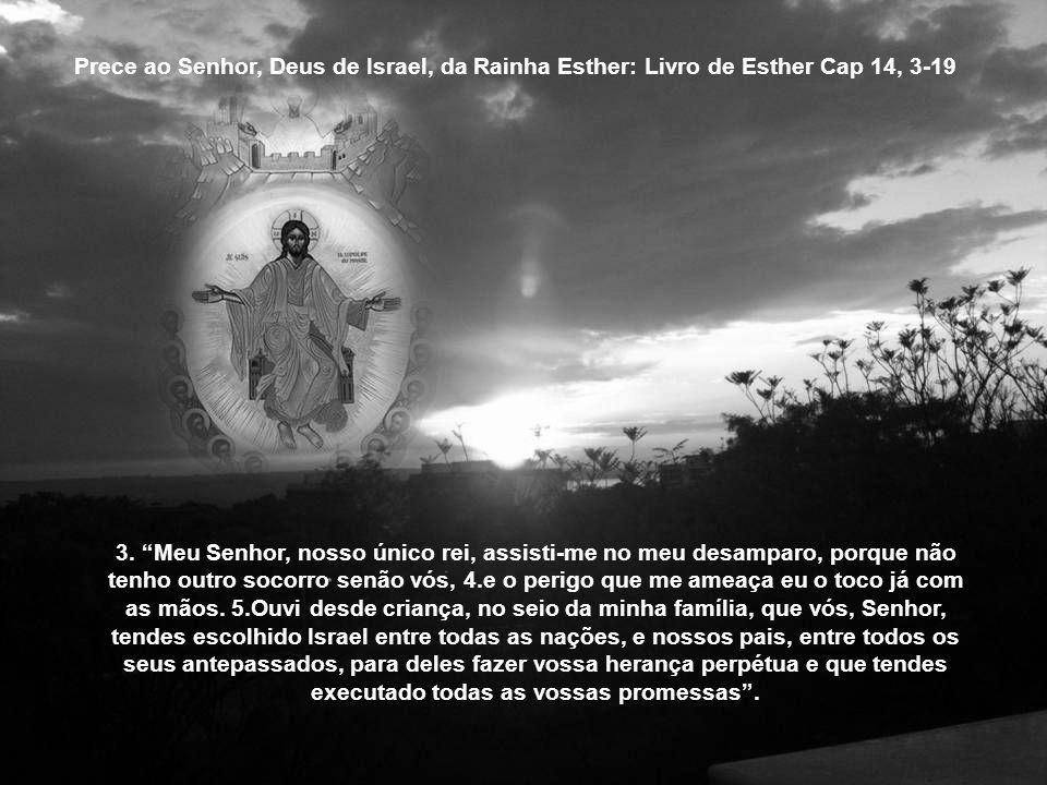 Prece ao Senhor, Deus de Israel, da Rainha Esther: Livro de Esther Cap 14, 3-19