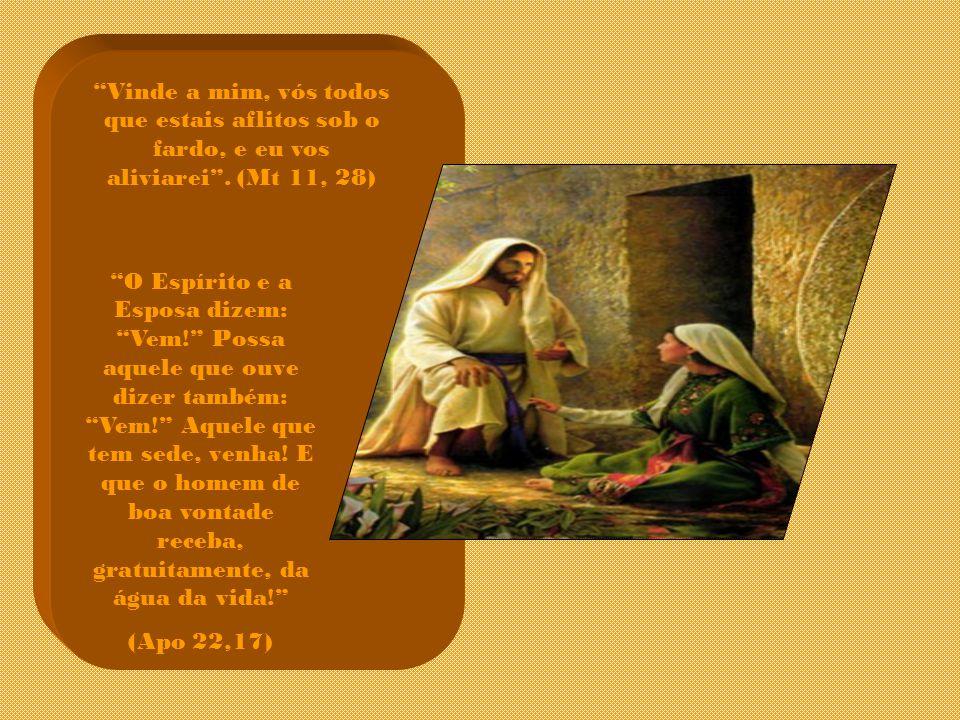 Vinde a mim, vós todos que estais aflitos sob o fardo, e eu vos aliviarei . (Mt 11, 28)