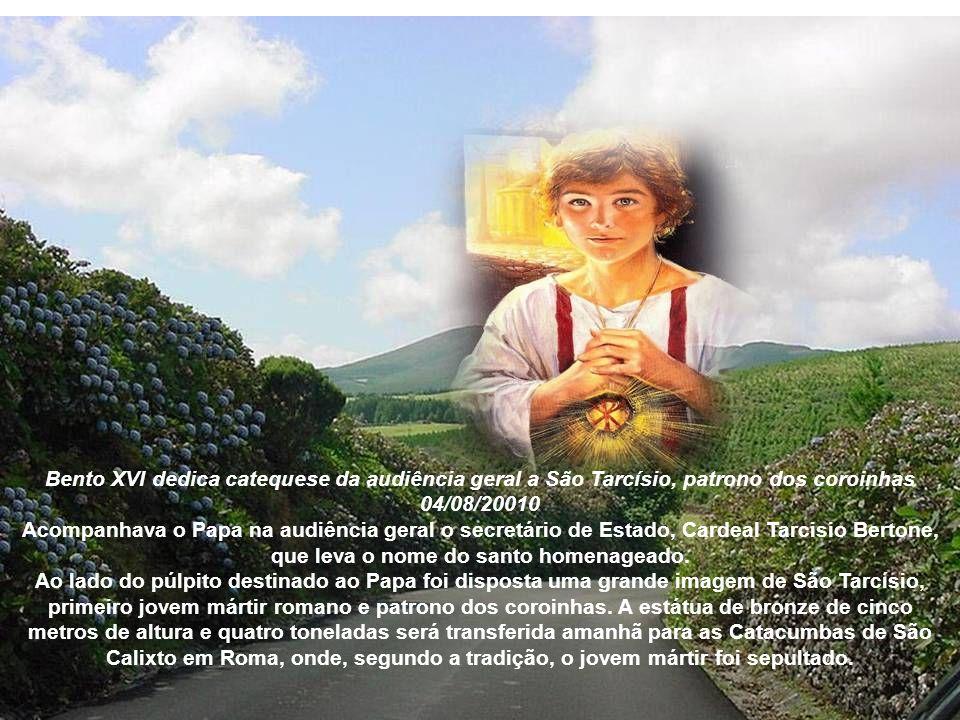 Bento XVI dedica catequese da audiência geral a São Tarcísio, patrono dos coroinhas