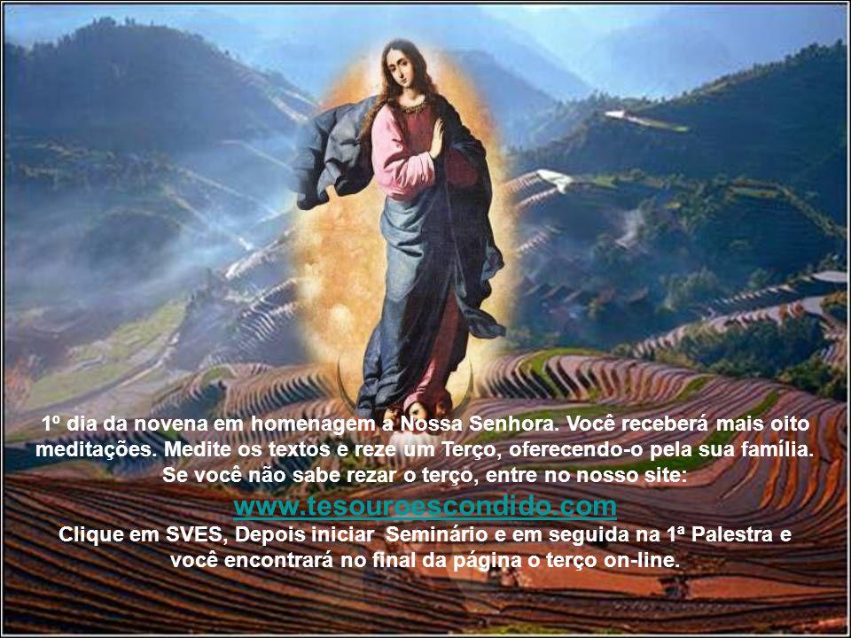 1º dia da novena em homenagem a Nossa Senhora