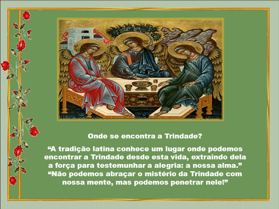 Onde se encontra a Trindade