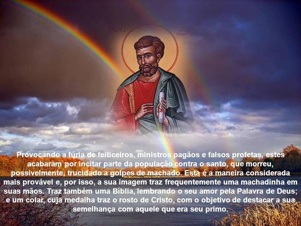 Provocando a fúria de feiticeiros, ministros pagãos e falsos profetas, estes acabaram por incitar parte da população contra o santo, que morreu, possivelmente, trucidado a golpes de machado.