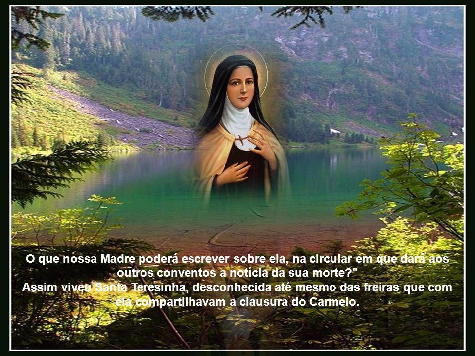 O que nossa Madre poderá escrever sobre ela, na circular em que dará aos outros conventos a notícia da sua morte