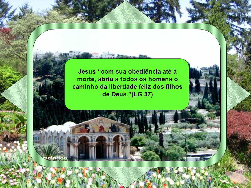 Jesus com sua obediência até à morte, abriu a todos os homens o caminho da liberdade feliz dos filhos de Deus. (LG 37)