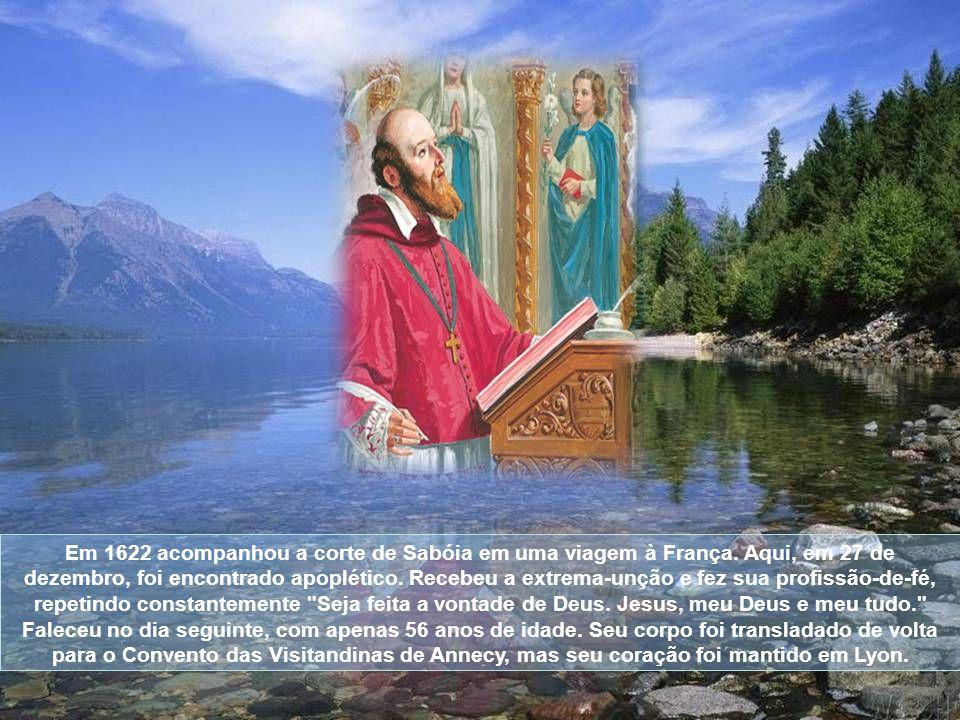 Em 1622 acompanhou a corte de Sabóia em uma viagem à França