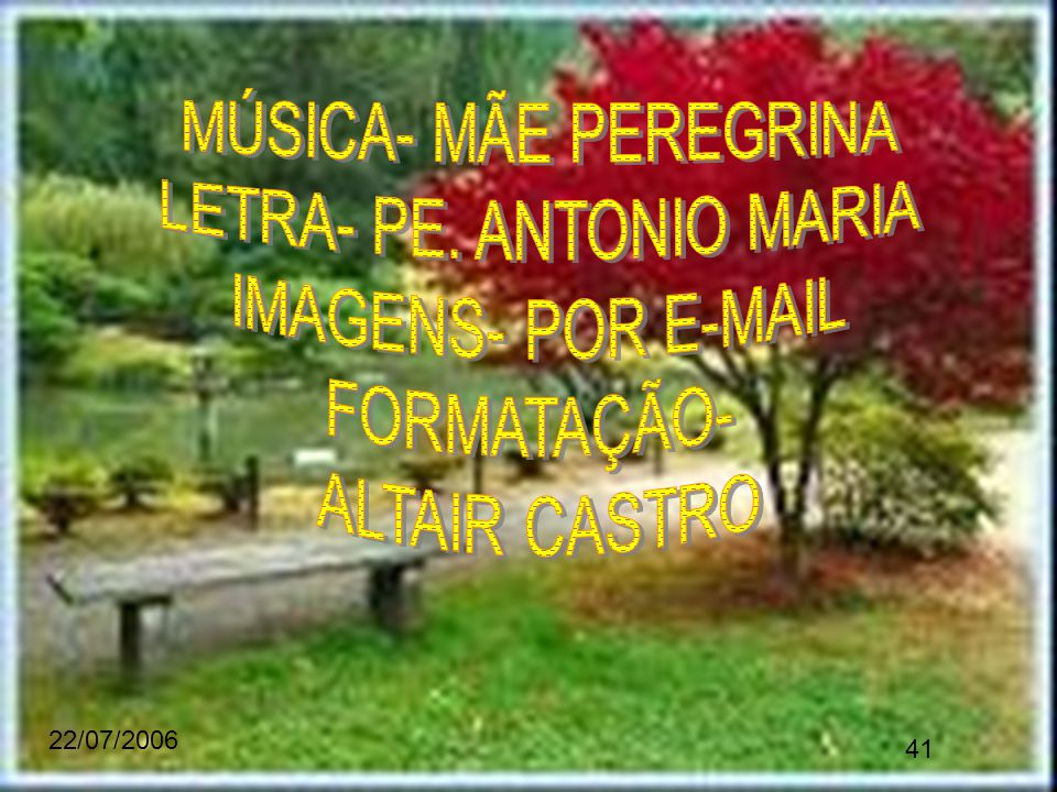 LETRA- PE. ANTONIO MARIA