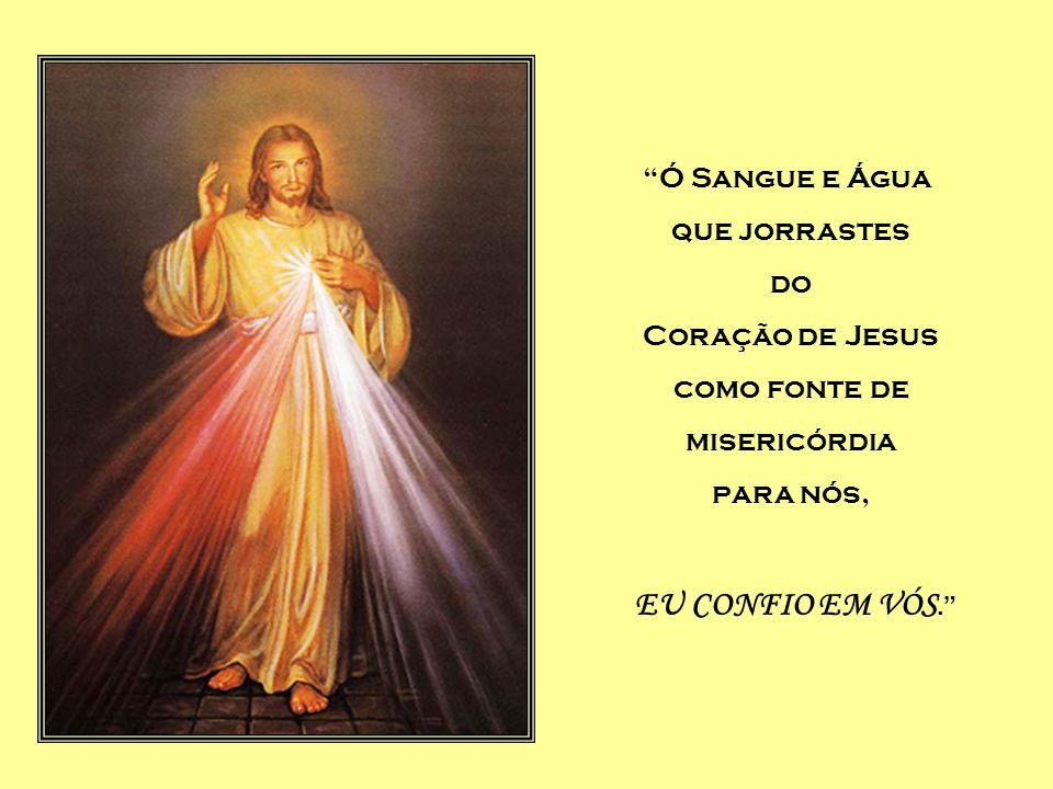 Ó Sangue e Água que jorrastes do Coração de Jesus como fonte de