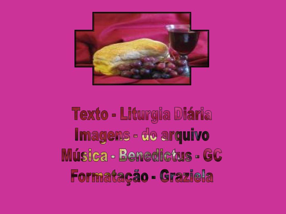 Texto - Liturgia Diária Imagens - do arquivo Música - Benedictus - GC