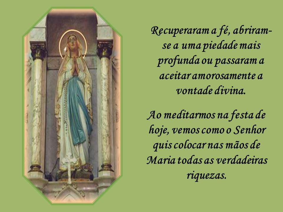 Recuperaram a fé, abriram-se a uma piedade mais profunda ou passaram a aceitar amorosamente a vontade divina.