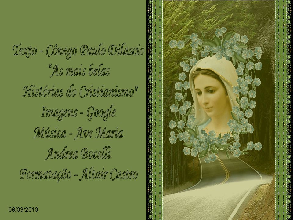 Texto - Cônego Paulo Dilascio As mais belas