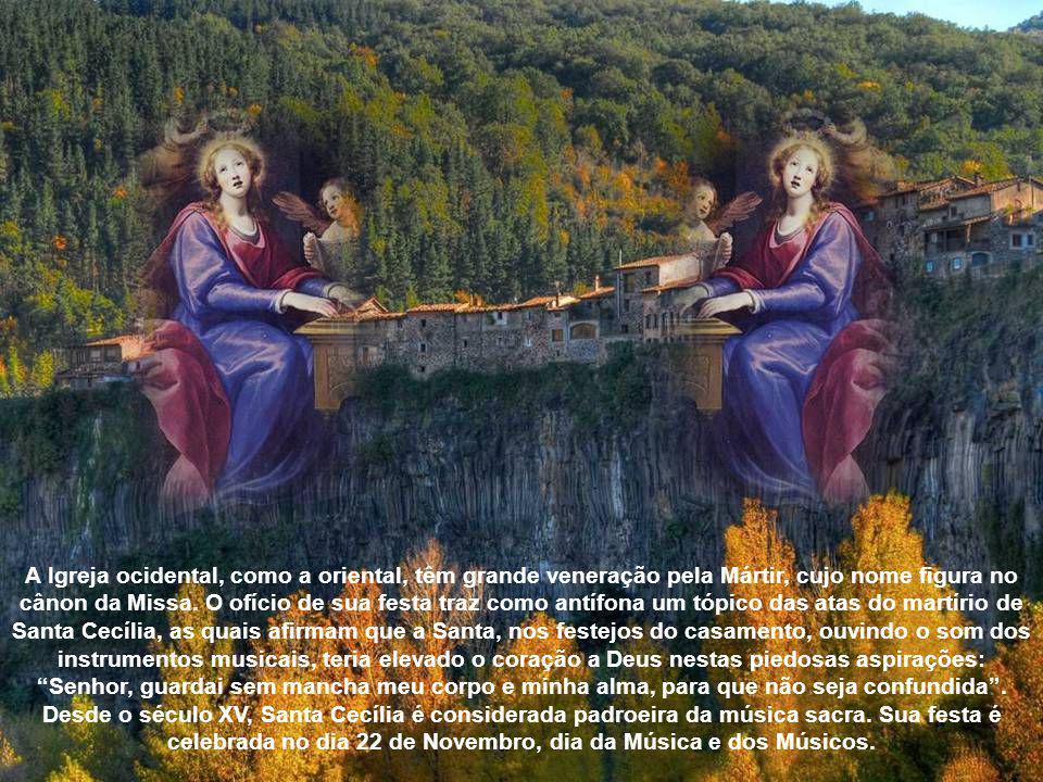 A Igreja ocidental, como a oriental, têm grande veneração pela Mártir, cujo nome figura no cânon da Missa.