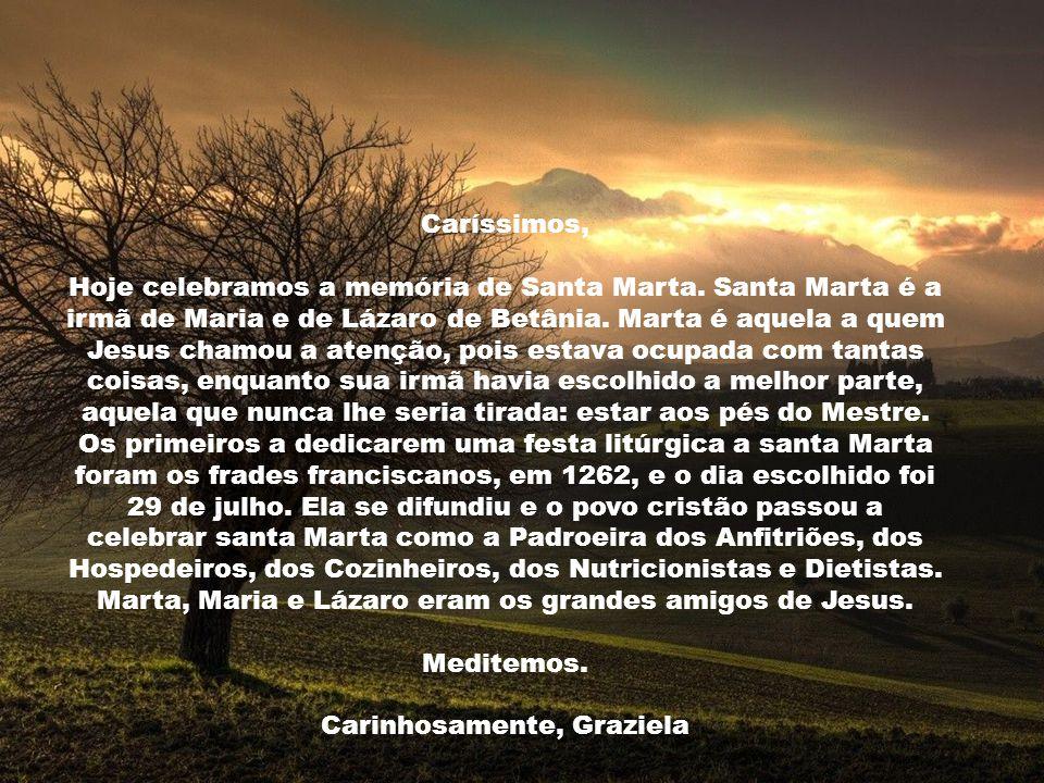Marta, Maria e Lázaro eram os grandes amigos de Jesus. Meditemos.