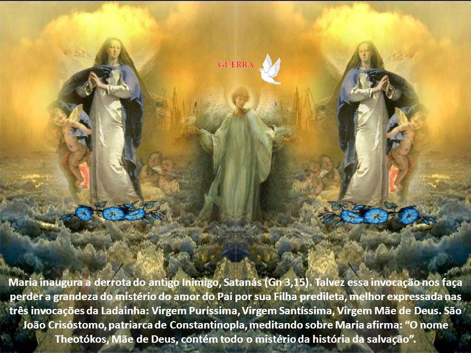 Maria inaugura a derrota do antigo Inimigo, Satanás (Gn 3,15)