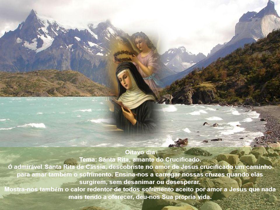 Tema: Santa Rita, amante do Crucificado.
