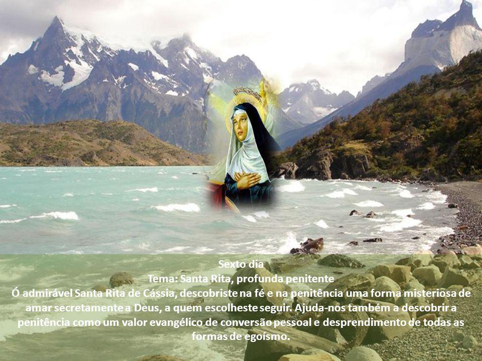 Tema: Santa Rita, profunda penitente