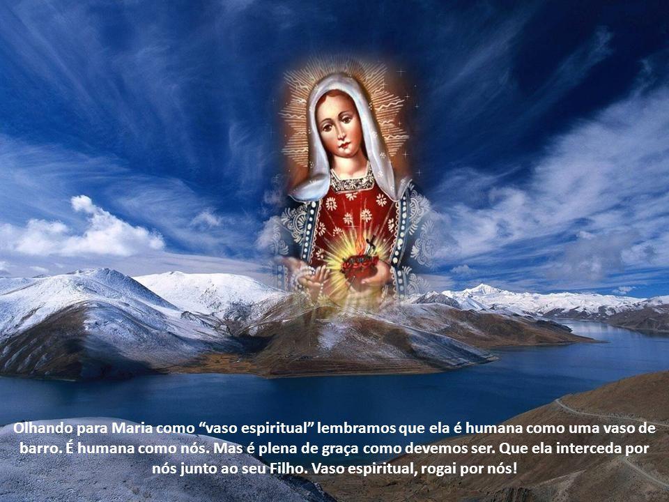 Olhando para Maria como vaso espiritual lembramos que ela é humana como uma vaso de barro.