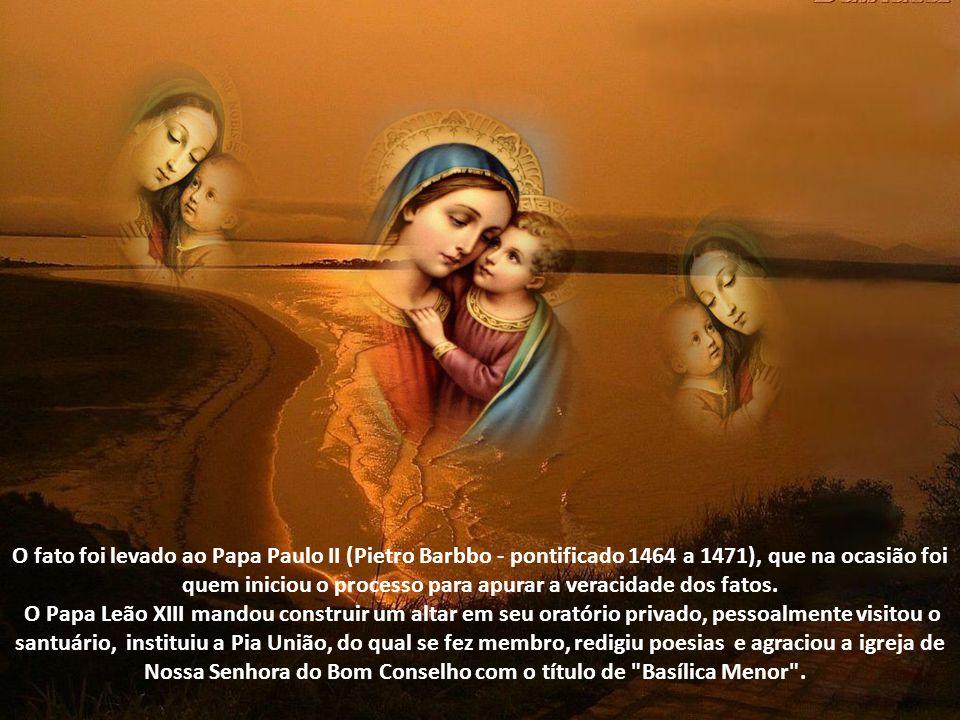 O fato foi levado ao Papa Paulo II (Pietro Barbbo - pontificado 1464 a 1471), que na ocasião foi quem iniciou o processo para apurar a veracidade dos fatos.