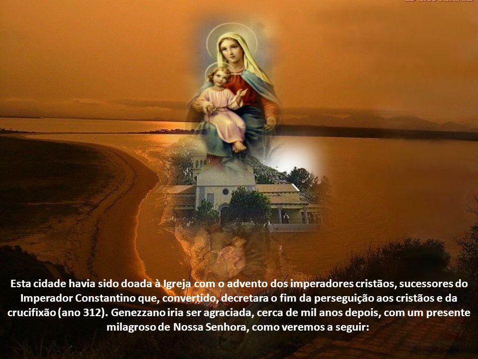 Esta cidade havia sido doada à Igreja com o advento dos imperadores cristãos, sucessores do Imperador Constantino que, convertido, decretara o fim da perseguição aos cristãos e da crucifixão (ano 312).