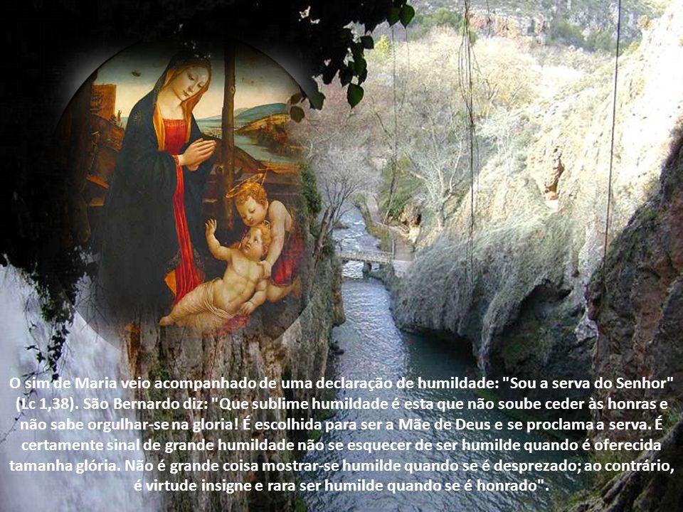 O sim de Maria veio acompanhado de uma declaração de humildade: Sou a serva do Senhor (Lc 1,38).