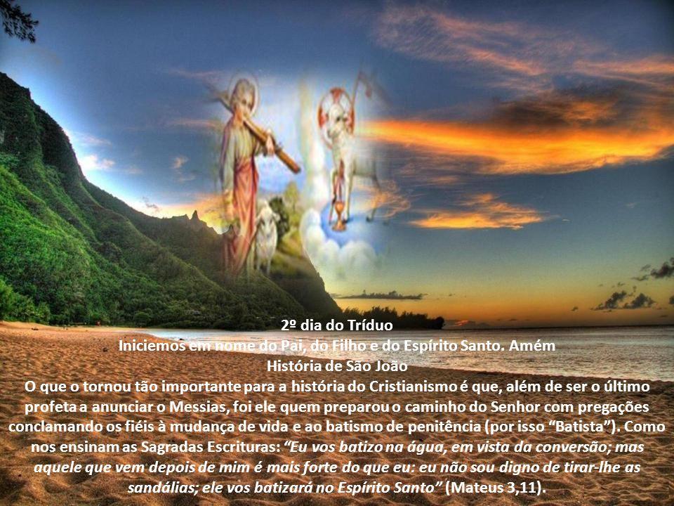 Iniciemos em nome do Pai, do Filho e do Espírito Santo. Amém