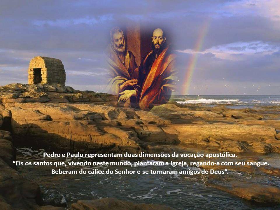 Pedro e Paulo representam duas dimensões da vocação apostólica.