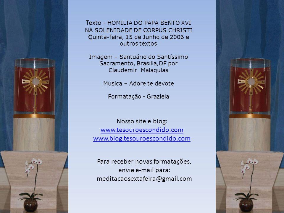 Texto - HOMILIA DO PAPA BENTO XVI