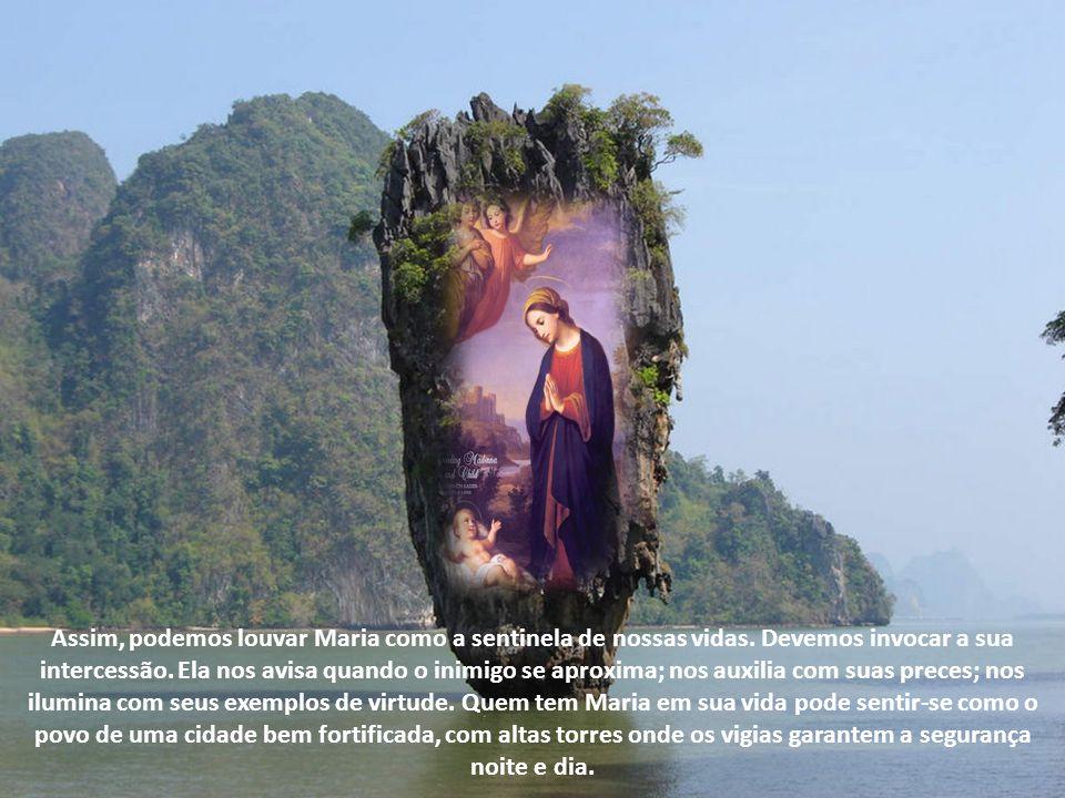 Assim, podemos louvar Maria como a sentinela de nossas vidas