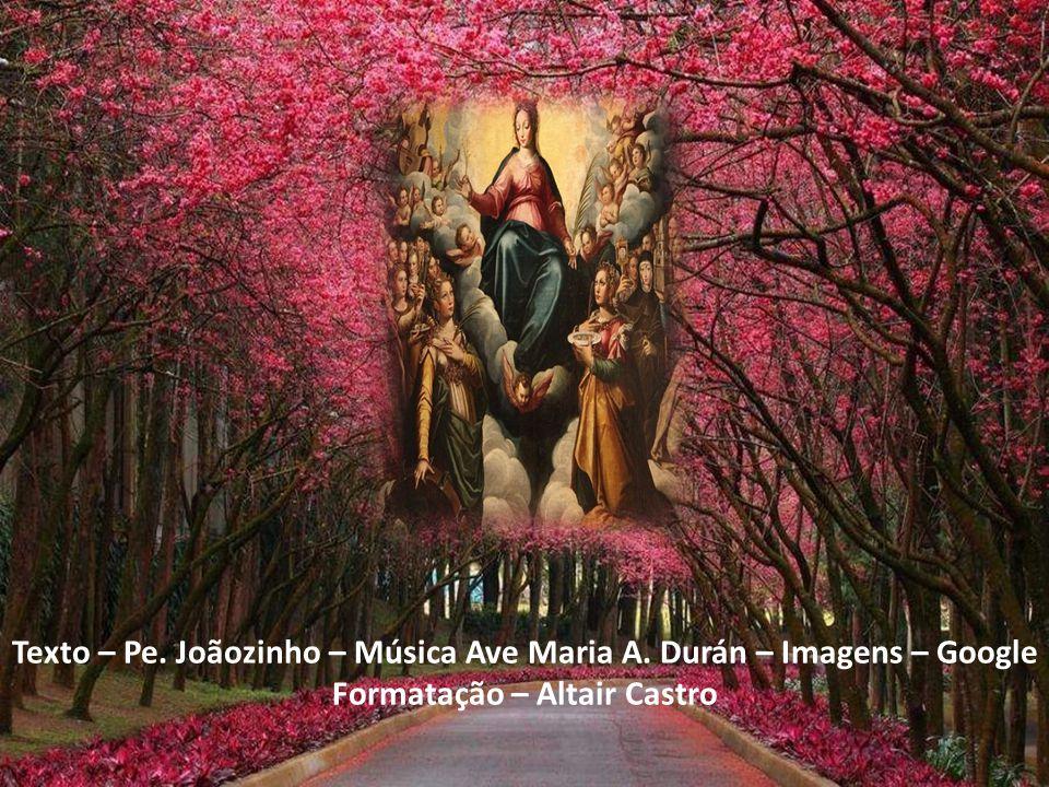 Texto – Pe. Joãozinho – Música Ave Maria A. Durán – Imagens – Google