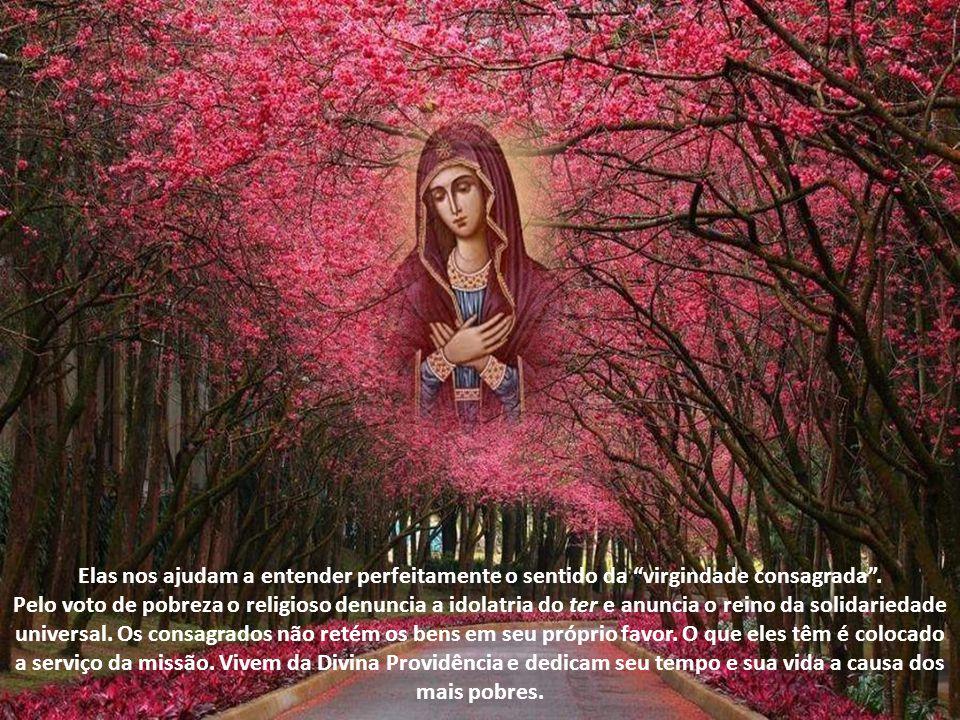 Elas nos ajudam a entender perfeitamente o sentido da virgindade consagrada .