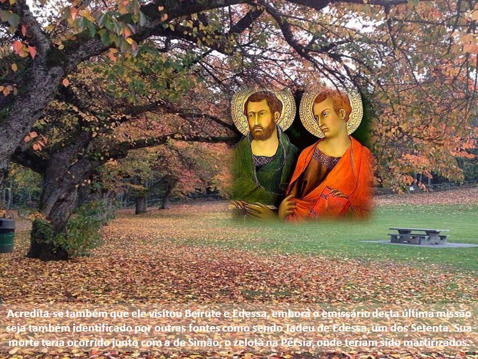 Acredita-se também que ele visitou Beirute e Edessa, embora o emissário desta última missão seja também identificado por outras fontes como sendo Tadeu de Edessa, um dos Setenta.