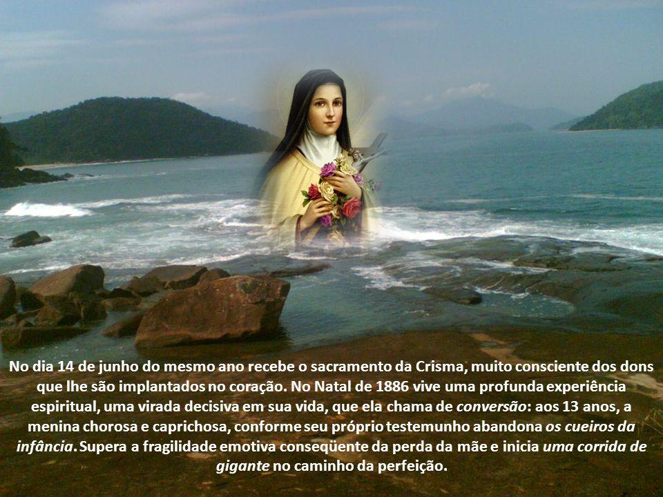 No dia 14 de junho do mesmo ano recebe o sacramento da Crisma, muito consciente dos dons que lhe são implantados no coração.