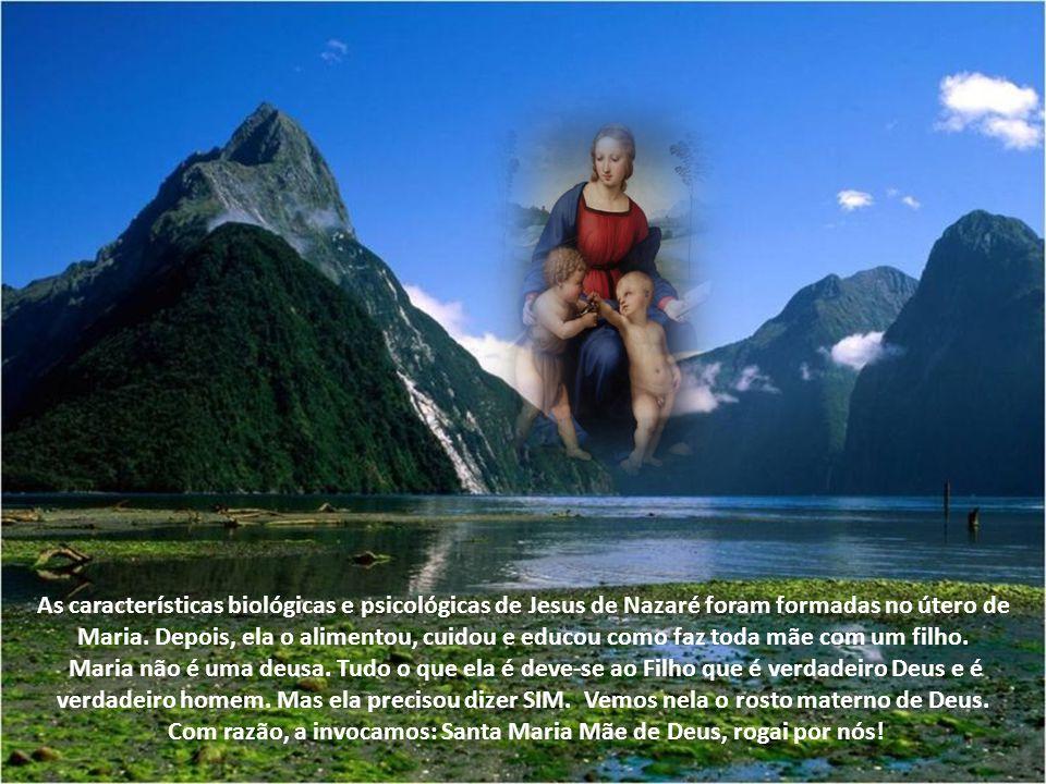 As características biológicas e psicológicas de Jesus de Nazaré foram formadas no útero de Maria.